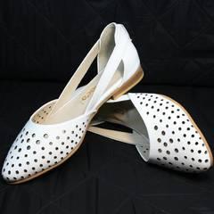 Женские модные балетки босоножки Evromoda 286.85 Summer White.