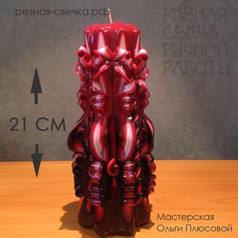 Резная свеча Фламенко 21 см