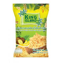 Кокосовые чипсы с Ананасом, 40 гр., King Island