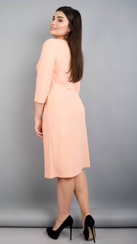 Тейлор. Гарна жіноча сукня плюс сайз. Персик. - купить по выгодной ... d1da434ee7093