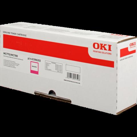 Тонер-картридж OKI для MC770, MC780, MC712 Magenta. Ресурс 11500 стр. (45396202)