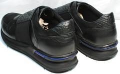 Кроссовки натуральная кожа мужские Luciano Bellini 1087 All Black