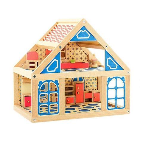 Расписной кукольный домик, 2 этажа