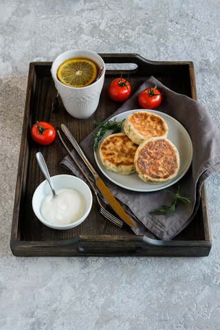 Dark Ashwood Breakfast Tray