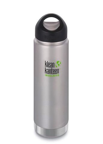Термобутылка Klean Kanteen Insulated Wide Loop Cap 592мл Brushed Stainless