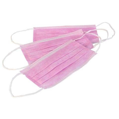 Маска медицинская розовая 4-х слойная (1 упак. 20 шт.)