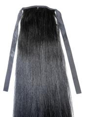 Накладной хвост  #1-Натуральный черный- 55 CM