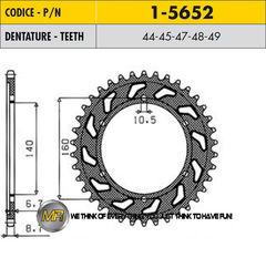 Звезда задняя 45 зубьев 1-5652-45 стальная / JTR502-45 ZZR1100