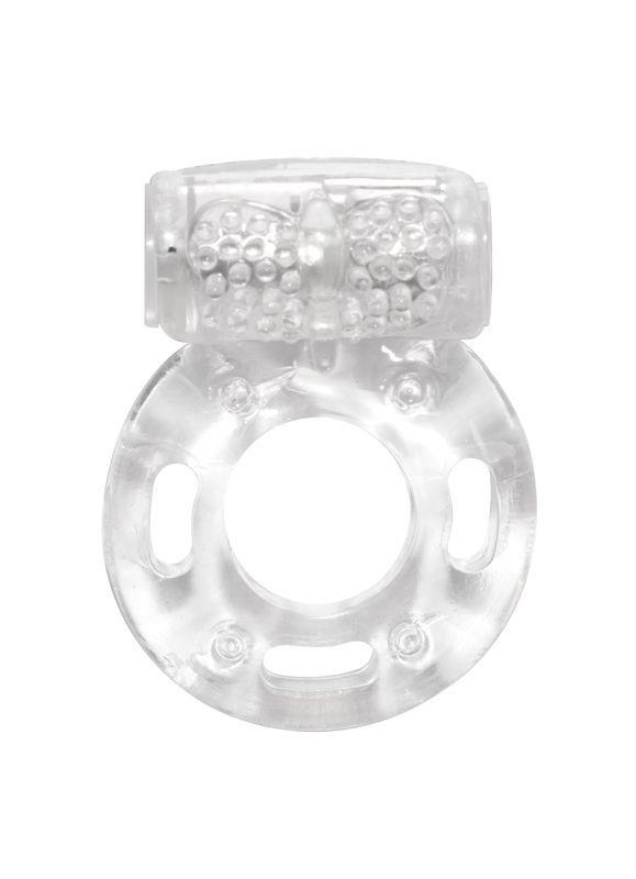 Эрекционные кольца: Прозрачное эрекционное кольцо с вибрацией Rings Axle-pin