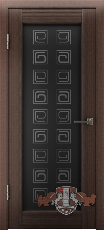 Л8ПО4 Венге / триплекс черный, Дверь межкомнатная,Владимирская Фабрика Дверей