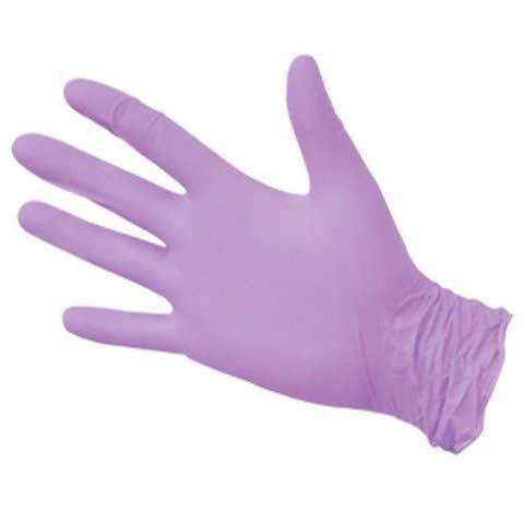 Перчатки одноразовые нитриловые сиреневые, 3,5 г. (100 шт/уп)