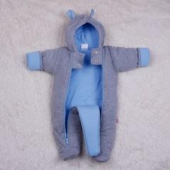 Утепленный трикотажный комбинезон Mini (голубой)