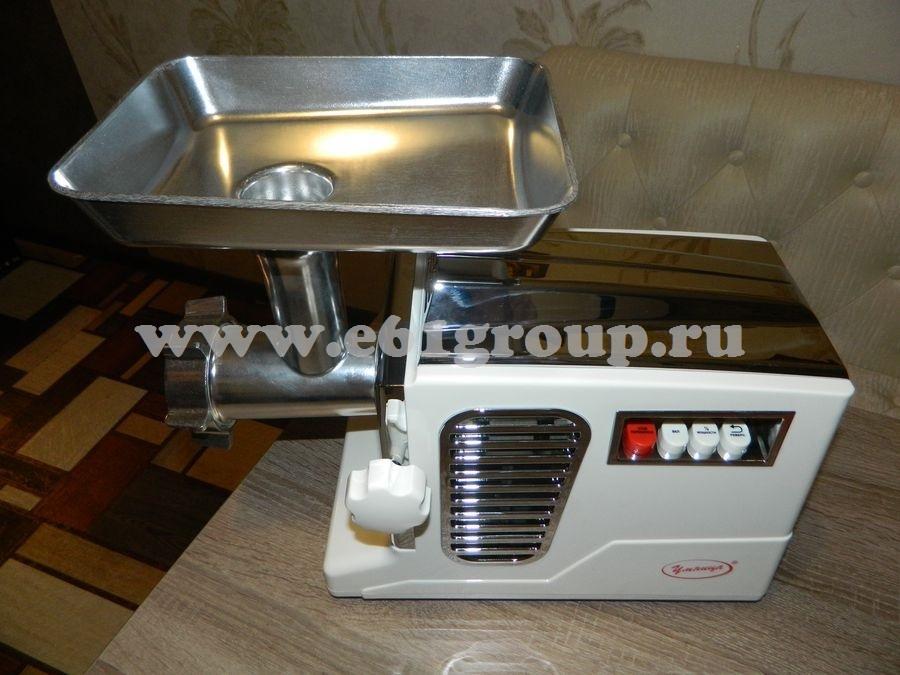 2 Мясорубка электрическая Комфорт Умница МЭ-3000Вт белая  хром. накладки купить