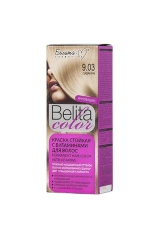 Белита-М Belita Color Стойкая краска с витаминами для волос тон №9.03 Саванна