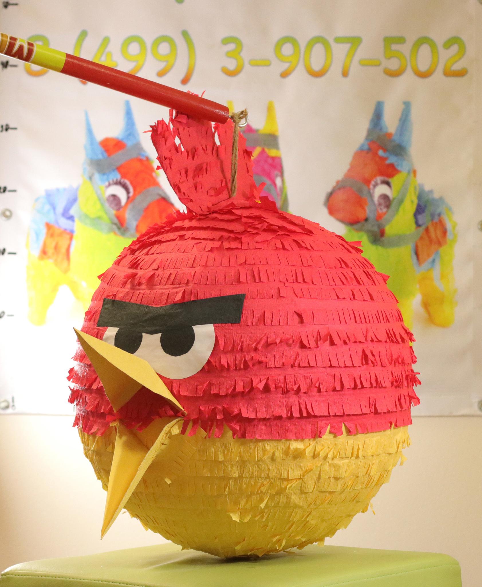 Пиньята Красная птица  ( angry birds )