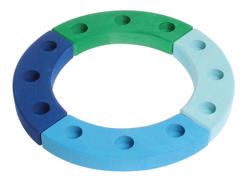 Кольцо для дня рождения, сине-зеленое