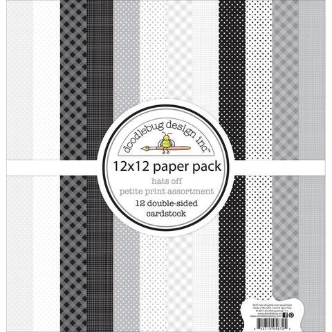 Набор бумаги Hats Off от Doodlebug - 30х30 см