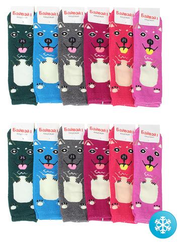 374 носки детские утепленные (10 шт.), цветные