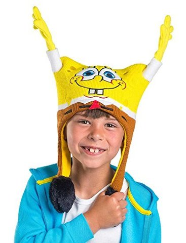 Губка Боб шапка детская живая