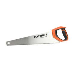 Ножовка PATRIOT WSP-450L, по дереву, 7 TPI крупный зуб, 3-х сторонняя заточка, 450мм