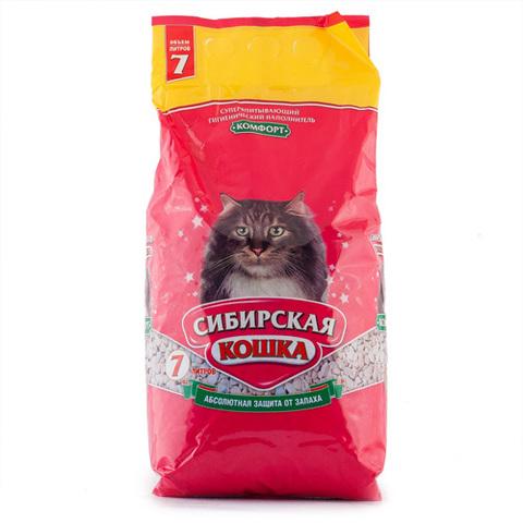 """Наполнитель для кошачьего туалета Сибирская кошка """"Комфорт"""" 7л"""
