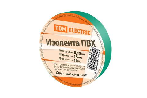 Изолента ПВХ 0,13*15мм Зеленая 10м TDM