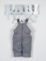 Костюм Кроха курточка + полукомбинезон на брителях (голубой/снеговичок) 68-74 см