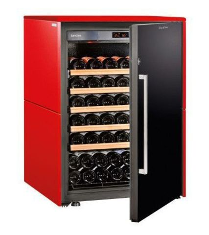 Винный шкаф EuroCave S Collection S красный сатин, сплошная дверь, максимальная комплектация