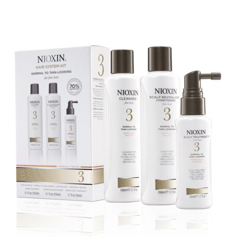 Nioxin Система 3 Набор из 3 продуктов шампунь кондиционер маска купить online