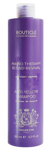 Шампунь с анти-желтым эффектом для осветленных и седых волос - Bouticle Anti-Yellow Shampoo 500 мл