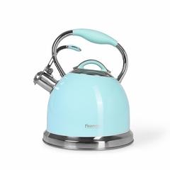 5958 FISSMAN Чайник для кипячения воды FELICITY 2,6л, цвет АКВАМАРИН (нерж.сталь)