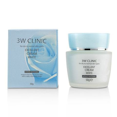 3W Clinic - Крем для лица отбеливающий, 50 гр