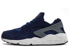 Кроссовки Мужские Nike Air Huarache Blue Suede