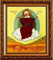 Спорительница хлебов. Икона Божьей Матери на холсте.