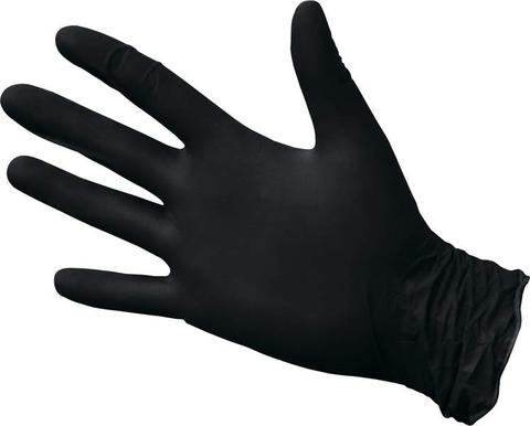 Перчатки черные нитриловые одноразовые 1уп - 50пар