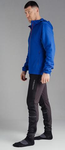 Беговой костюм с капюшоном Nordski Run Vasilek-Black мужской