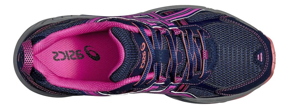 Женские кроссовки внедорожники Asics Gel-Venture 5 (T5N8N 5035) синие фото