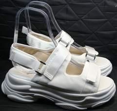 Женские сандалии на липучках Small Swan PM23-3 White.