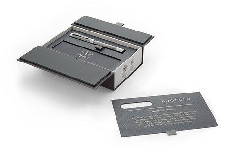 Ручка-роллер Parker Duofold Prestige Centennial, Ruthenium Chiselled CT123