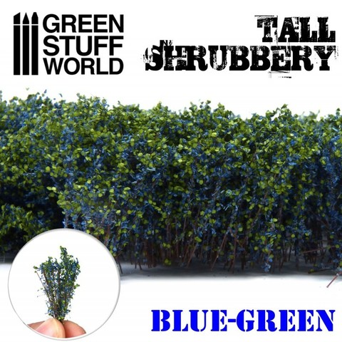 Tall Shrubbery - Blue/Green