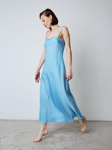 Платье-комбинация Голубая