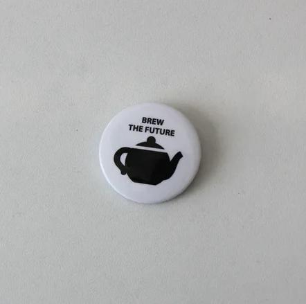 Значок Brew the future (white)