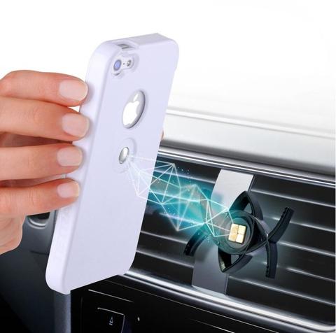 Автомобильный держатель телефона TETRAX SMART + чехол для IPhone 5/5S белый