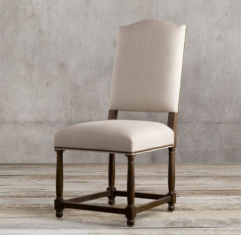 Empire Camelback Fabric Side Chair