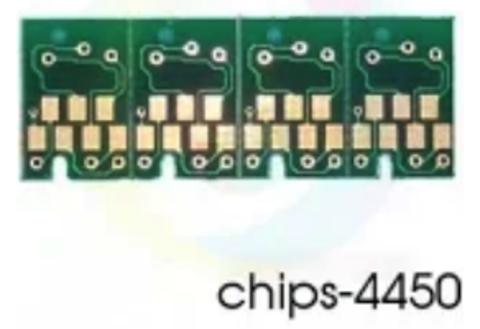 Чипы для ПЗК/ДЗК к Epson Stylus Pro 4450 для перезаправляемых картриджей T6143, T6144, T6142, T6148 (комплект 4 цвета)