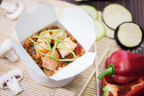 Рис с лососем