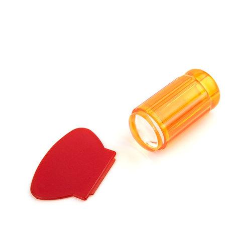 Штамп для стемпинга рифленый TNL - прозрачно оранжевый