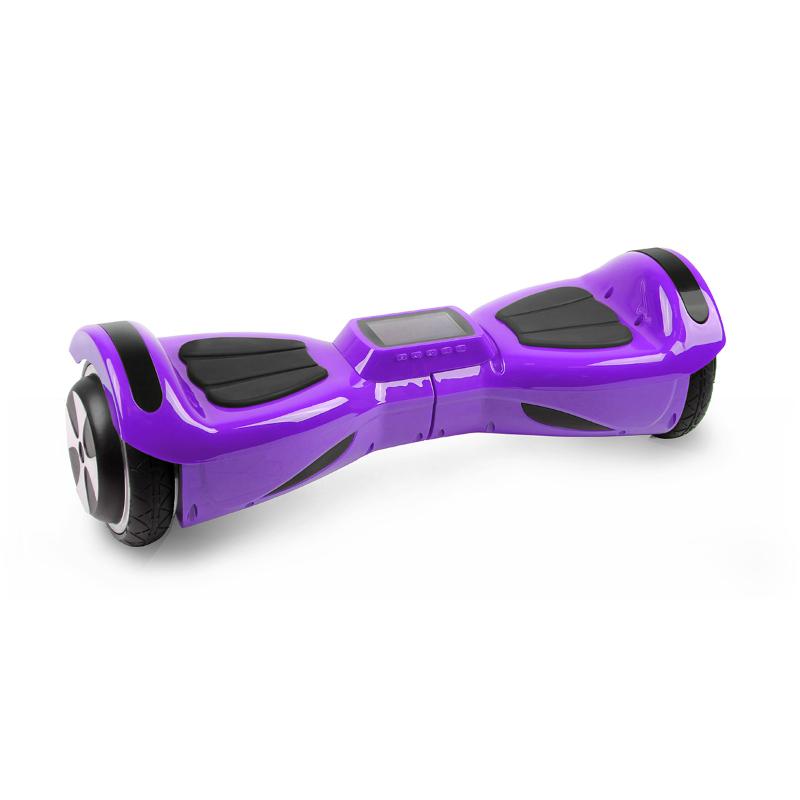 Hoverbot K3 фиолетовый для детей (Bluetooth-музыка + видео + дисплей + сумка) - Детский гироскутер, артикул: 764494