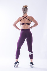 Женские лосины Nebbia Asymmetrical 7/8 leggings 639 Burgundy/vanilla
