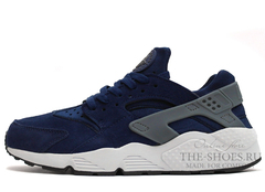 Кроссовки Женские Nike Air Huarache Blue Grey Suede